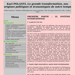 K. POLANYI - La grande transformation