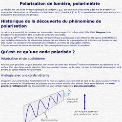 Polarisation de lumière