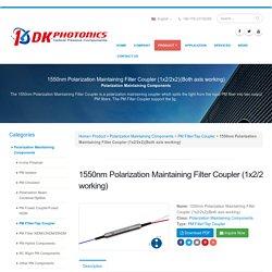 Buy Polarization Maintaining Filter Coupler Online USA