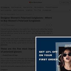 Where to Buy Women's Polarized Sunglasses