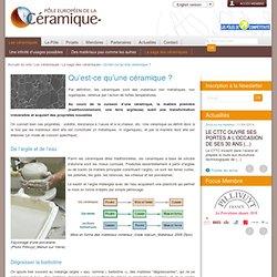Pôle Européen de la Céramique : Qu'est-ce qu'une céramique ?