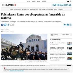 Polémica en Roma por el espectacular funeral de un mafioso