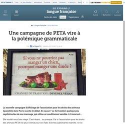 Une campagne de PETA vire à la polémique grammaticale