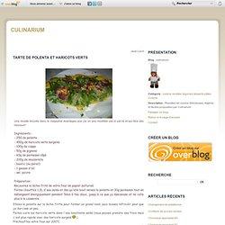 Tarte de polenta et haricots verts