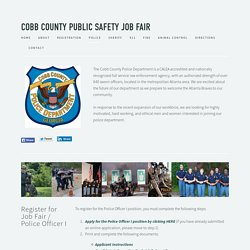 Police — Cobb County Public Safety Job Fair