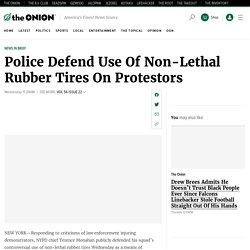 Police Defend Use Of Non-Lethal Rubber Tires On Protestors