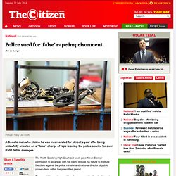 Police sued for 'false' rape imprisonment