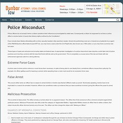Police Misconduct