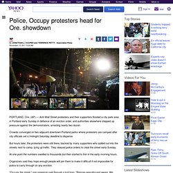 Police, Occupy protesters head for Ore. showdown