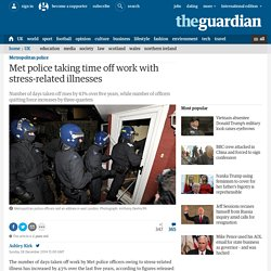 Met police taking time off work with stress-related illnesses