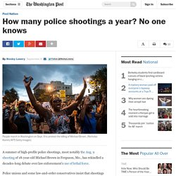 How many police shootings a year? No one knows