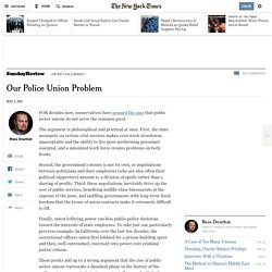 Our Police Union Problem