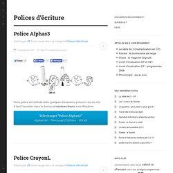 Polices d'écriture