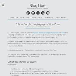 Polices Google : un plugin pour WordPress