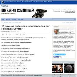 16 novelas policiacas recomendadas por Fernando Savater