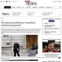 """Des policiers chez DSK pour """"un problème d'intrusion de paparazzi"""""""
