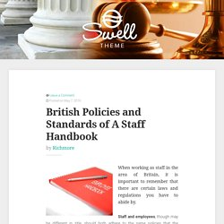 British Policies and Standards of A Staff Handbook – Sprosne Legal