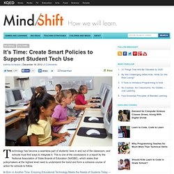 It's Time: Create Smart Policies to Support Student Tech Use
