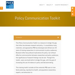 Policy Communication Toolkit – PACE