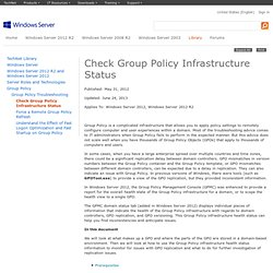 Check Group Policy Infrastructure Status