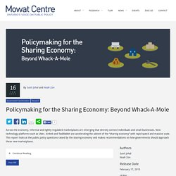 Policymaking for the Sharing Economy: Beyond Whack-A-Mole