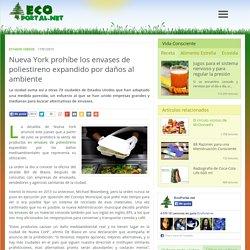 Nueva York prohíbe los envases de poliestireno expandido por daños al ambiente - Ecoportal.net