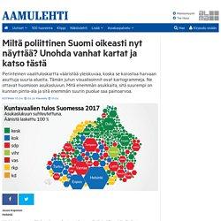 Miltä poliittinen Suomi oikeasti nyt näyttää? Unohda vanhat kartat ja katso tästä - Aamulehti