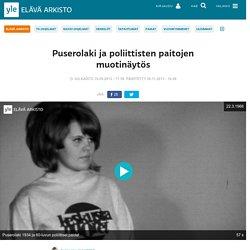 Puserolaki ja poliittisten paitojen muotinäytös