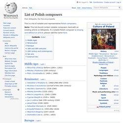 List of Polish composers - Wikipedia