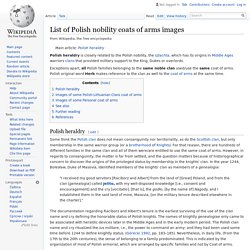 List of Polish nobility coats of arms images