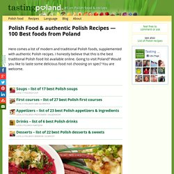 100 Best traditional foods from Poland