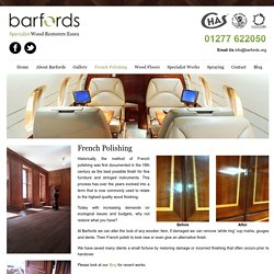 Best French Polishing Service in Essex, Billericay and London