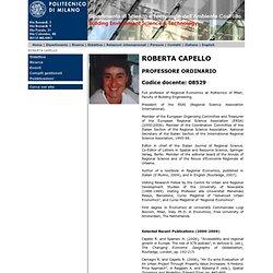 ROBERTA CAPELLO: Politecnico di Milano - Dipartimento ABC :
