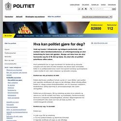 Politi.no - Hva kan politiet gjøre for deg?
