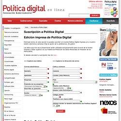 Suscripción a Política Digital