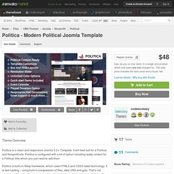 Politica - Modern Political Joomla Template