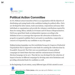 Political Action Committee – Peter James – Medium