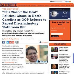 'This Wasn't the Deal': Political Chaos in North Carolina as GOP Refuses to Repeal Discriminatory 'Bathroom Bill'