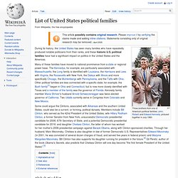 List of United States political families