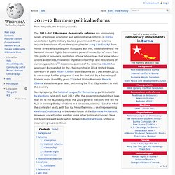 2011–12 Burmese political reforms