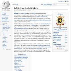 Political parties in Belgium