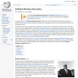 1941 Political Warfare Executive