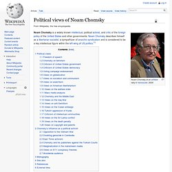 Noam Chomsky's political views