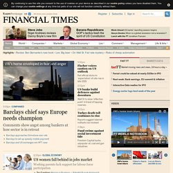 World business, finance, and political news from the Financial Times