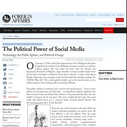 The Political Power of Social Media