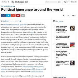 Political ignorance around the world