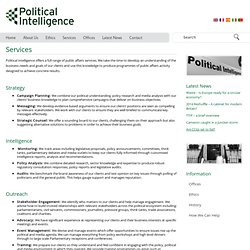 Services » Political Intelligence