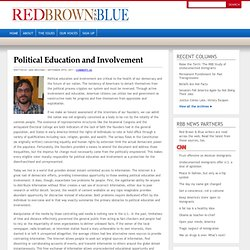 Political Education and Involvement | Red Brown and Blue