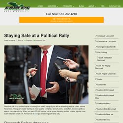 Staying Safe at a Political Rally
