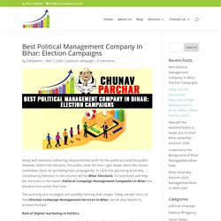 Best Political Management Company In Bihar: Election Campaigns